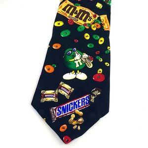 Vintage Planet Mars Candy Silk Necktie